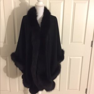 Black Cashmere fox shawl